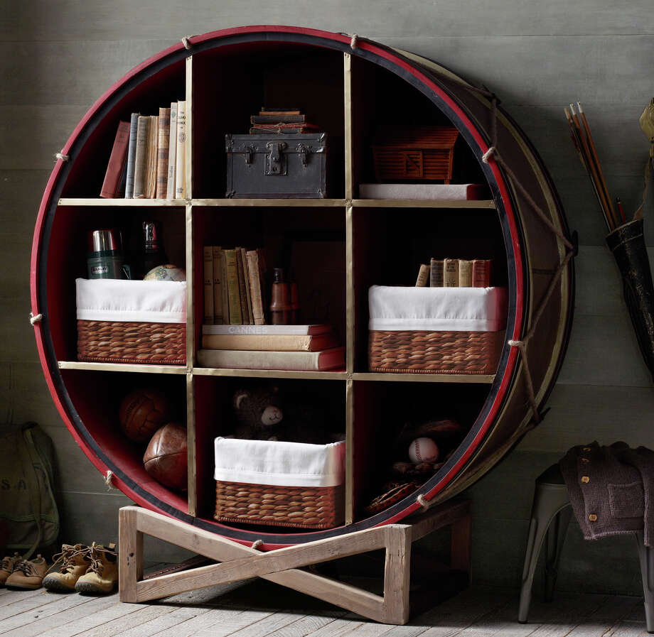The splurge-worthy 19th C. British Drum Bookcase ($1,849, rhbabyandchild.com) is a surefire way to give a study space personality. MUST CREDIT: RH Baby & Child. Photo: RH Baby & Child/Handout