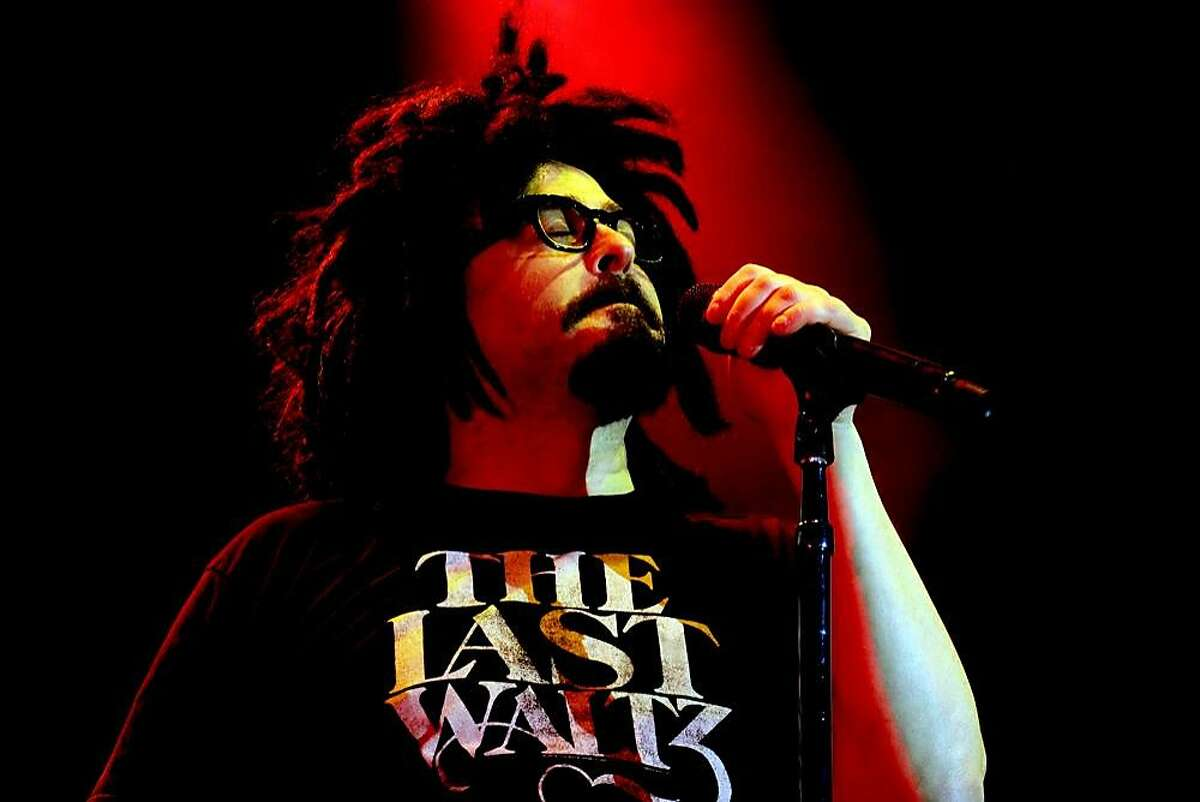 Adam Duritz, frontman for alternative rock band Counting Crows, is seen here. Counting Crows performs with Rob Thomas at Mohegan Sun Arena on Saturday, Aug, 6.