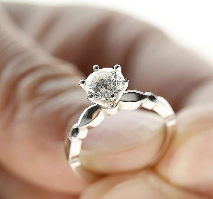 Dani Parker's engagement ring on Thursday, September 1, 2016,  in San Francisco, Calif.