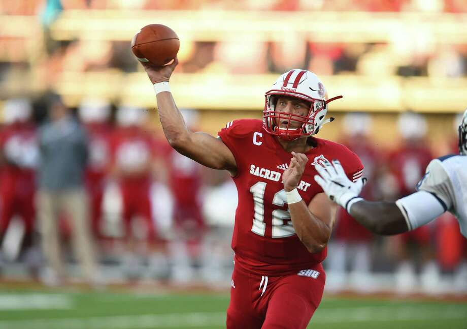 Sacred Heart quarterback RJ Noel looks poised to break some SHU career passing records in his final season Photo: Contributed / Contributed Photo / Sacred Heart University