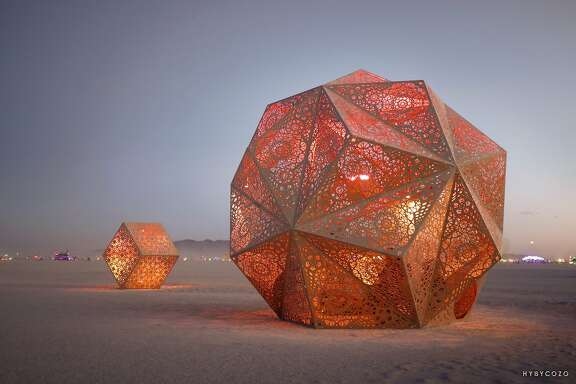 Serge Beaulieu and Yelena Filipchuck scuptures at Burning Man