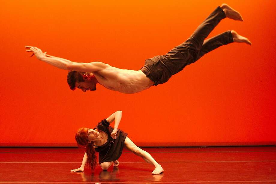 Company: 13th Floor Choreographer: Jenny McAllister Piece: The End of the Story Dancers pictured: Zach Fischer and Jenny McAllister Photo credit: Andy Mogg Photo: Andy Mogg