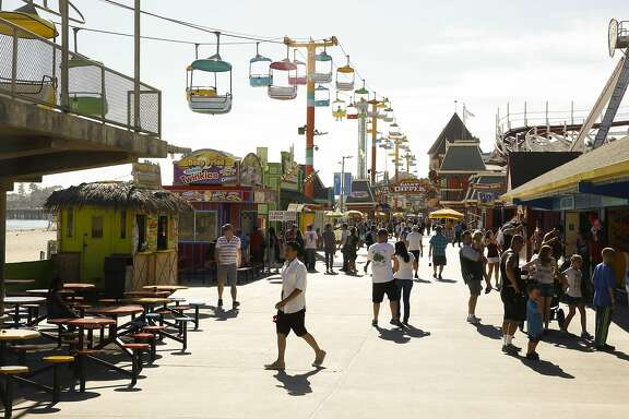 The Santa Cruz Boardwalk in Santa Cruz, California on Thursday September 1, 2016. Santa Cruz Boardwalk has announced a major $12 million renovation to its main entrance, Fright Walk attraction and other rides.