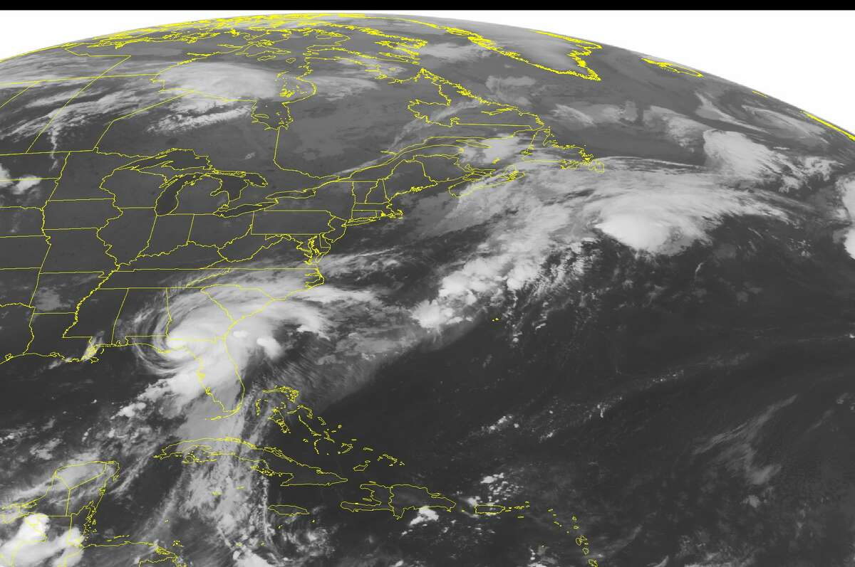 This NOAA satellite image taken Friday, September 02, 2016 at 12:45 AM EDT shows Hurricane Hermine as it makes landfall over the Big Bend region of Florida. Heavy rains and gusty winds have moved onshore with the hurricane, and a tornado watch has been issued for areas in northern Fla., as well as southern Ga. Thunderstorm activity has also been observed along the northern edge of Hermine, in a line from northern Ga. through S.C. Aside from this main weather-maker, much of the rest of the Midwest through Northeastern United States remain mostly cloud free. (NOAA/Weather Underground via AP)