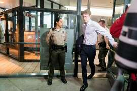 Brock Turner leaves the Santa Clara County Main Jail in San Jose, Calif. on Friday, Sept. 2, 2016. Turner was released early from jail after serving time for sexually assaulting a woman at Stanford.