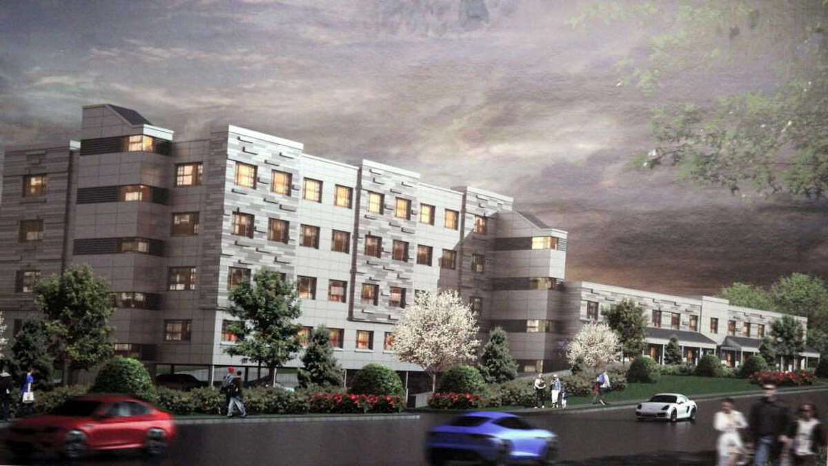 The proposed four-story, 94-unit apartment building for 1177 Post Road East.