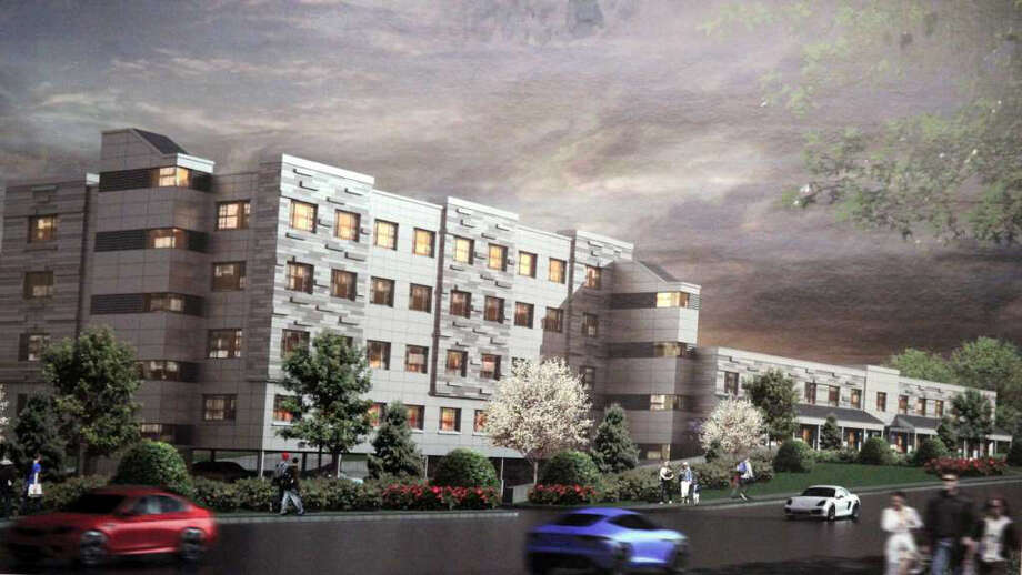 The proposed four-story, 94-unit apartment building for 1177 Post Road East. Photo: Contributed Photo / Westport News