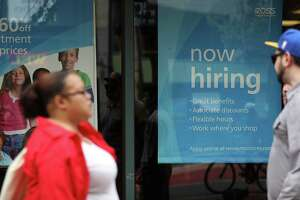 SAN FRANCISCO, CA - JULY 08:  A 'now hiring' sign is posted outside of a Ross Dress for Less store on July 8, 2016 in San Francisco, California. According to the the U.S. Labor Department, employment growth surged with 287,000 added jobs in June. The unemployment rate inched up to 4.9% from 4.7% with an estimated 400,000 people returning to the workforce, many who had given up on job searches.