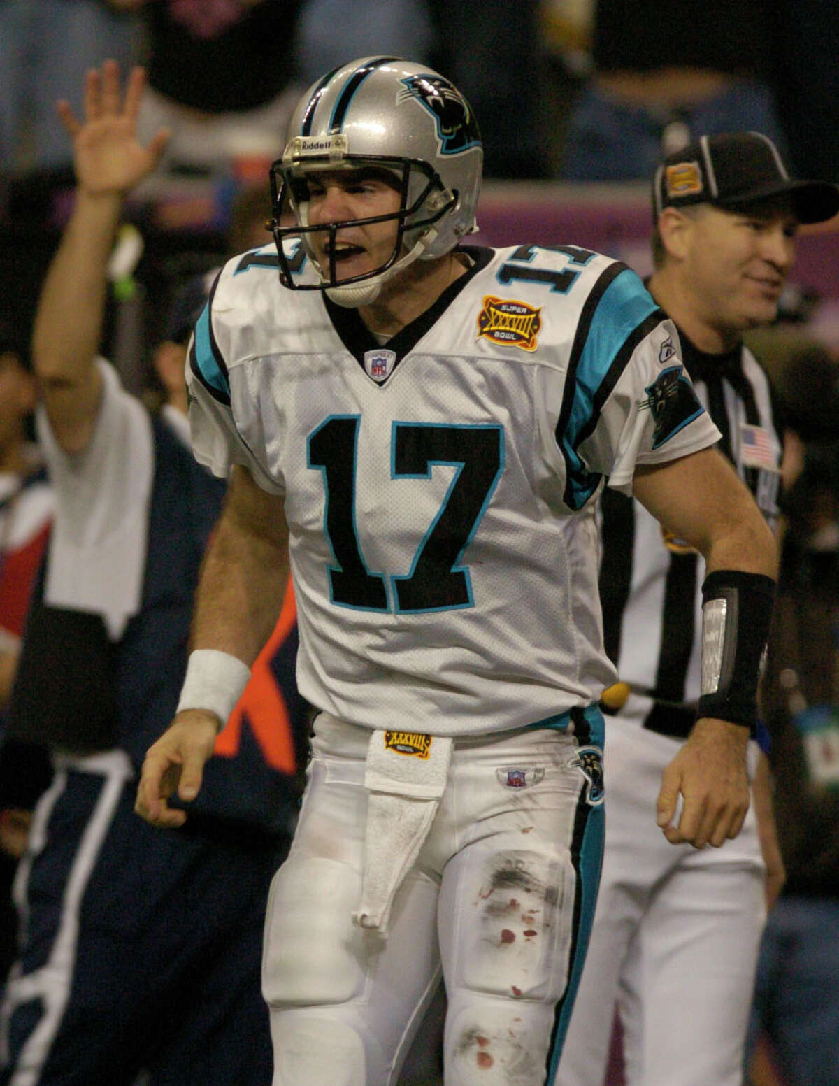 Carolina Panthers, 2003 Preseason: 4-0 Regular season: 11-5 Two seasons removed from going 1-15, the Panthers put together a stunning run to the Super Bowl. After winning the NFC South, they beat the Cowboys, Rams (in double overtime on the road) and Eagles (on the road) to make the Super Bowl. At then-Reliant Stadium, they battled the Patriots to a standstill before losing on Adam Vinatieri's last-second field goal.