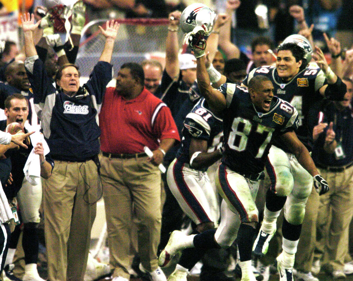 New England Patriots, 2003 Preseason: 4-0 Regular season: 14-2 After a 2-2 start, the Patriots won their final 12 regular-season games to easily win the AFC East and claimed their second Super Bowl championship with a thrilling win over Carolina at then-Reliant Stadium.