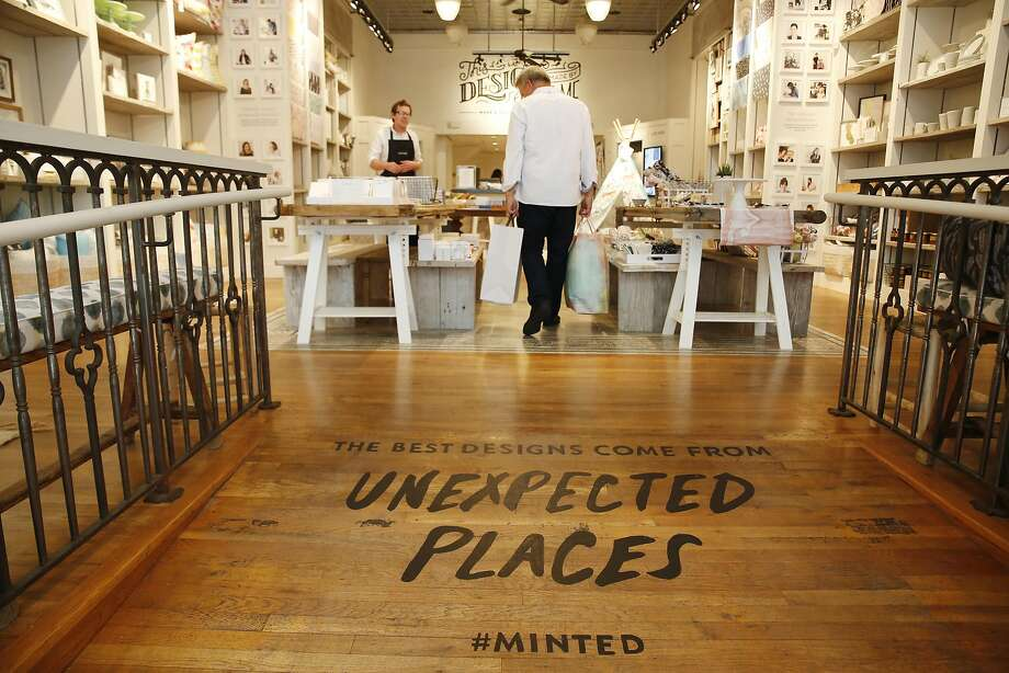 The online marketplace Minted opened its pop-up at 222 Grant Ave. in May. Photo: Lea Suzuki, The Chronicle