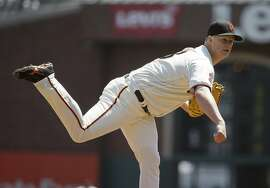San Francisco Giants starting pitcher Matt Cain throws in the first inning of a baseball game against the Pittsburgh Pirates Wednesday, Aug. 17, 2016, in San Francisco. (AP Photo/Eric Risberg)