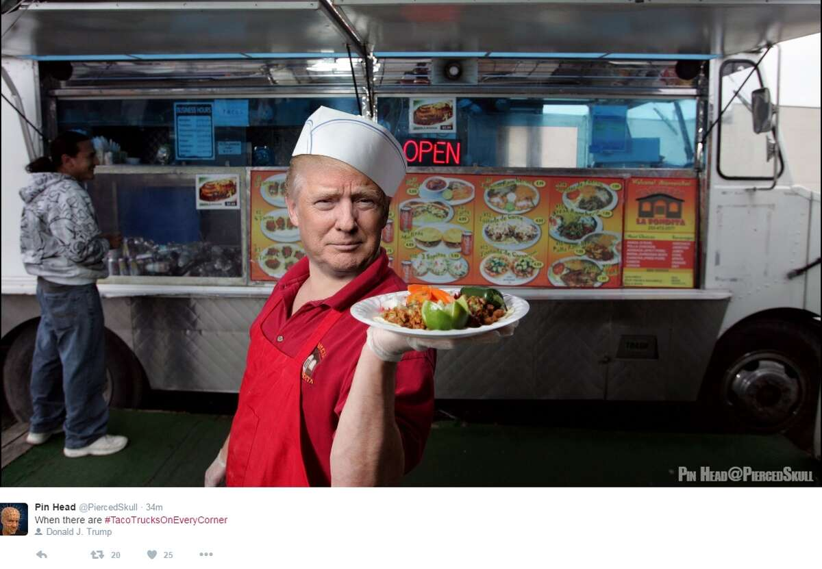 """""""When there are #TacoTrucksOnEveryCorner,"""" @PiercedSkull."""