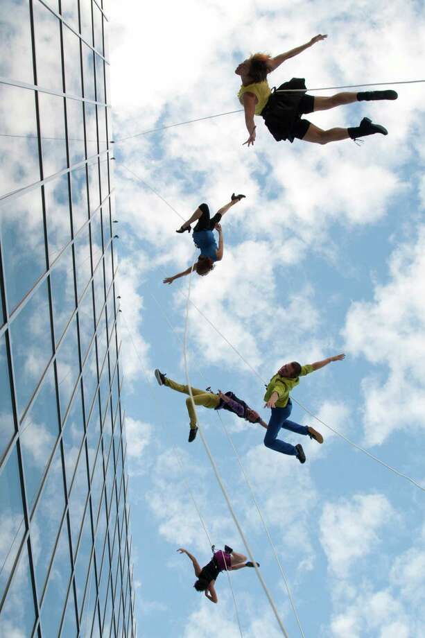 Bandaloop performs aerial dance at Fairfield University on Friday, Sept. 9. Photo: Courtesy Bandaloop /Contributed Photo