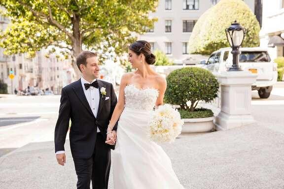 Jenn Sockolov and David Saxe wed May 29, 2016 at the Ritz-Carlton, San Francisco, after meeting at a charitable event.