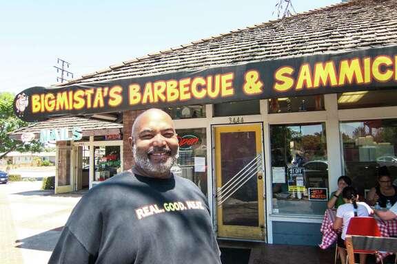 Galveston native Neil Strawder of Bigmista's Barbecue in Long Beach, Calif.