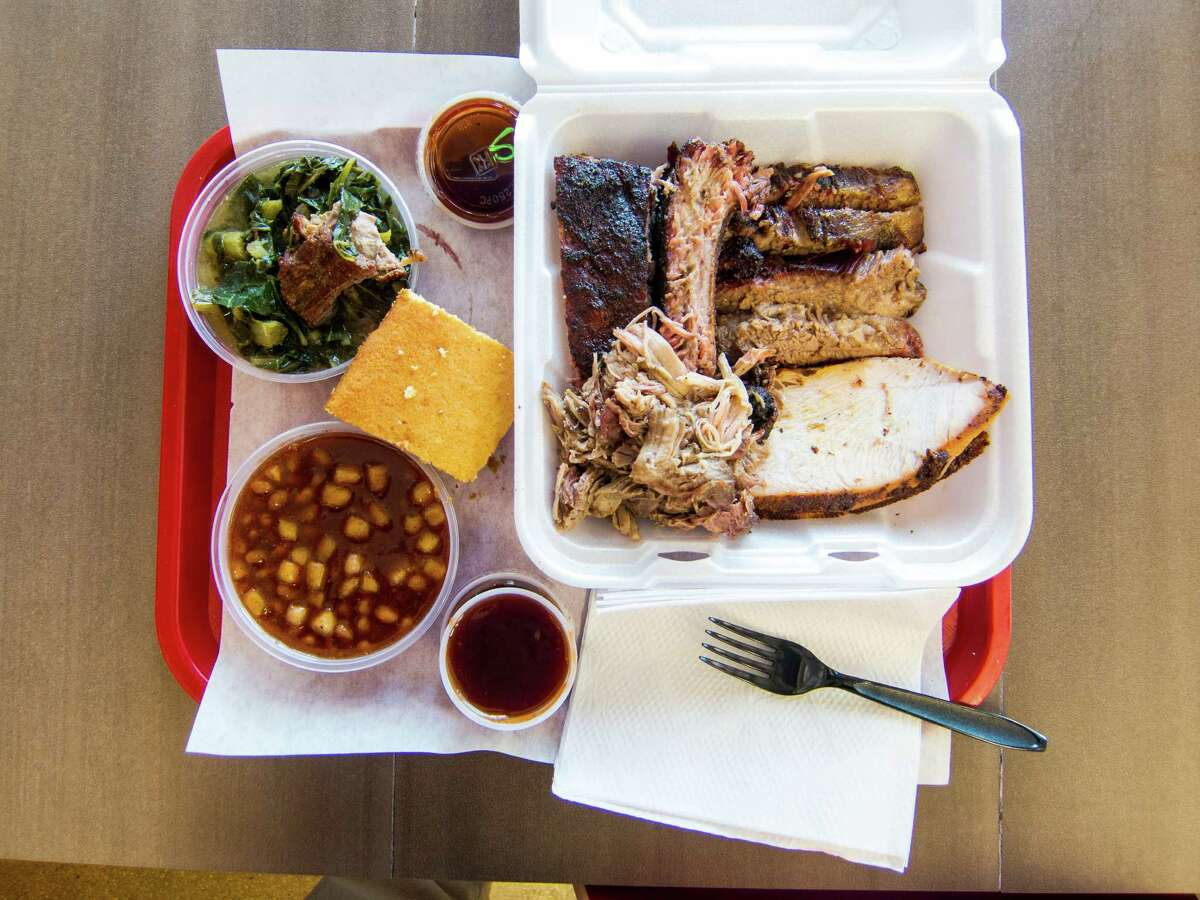 Bigmista's serves ribs, brisket, pulled pork and turkey with East Texas-inspired sides, including collard greens.