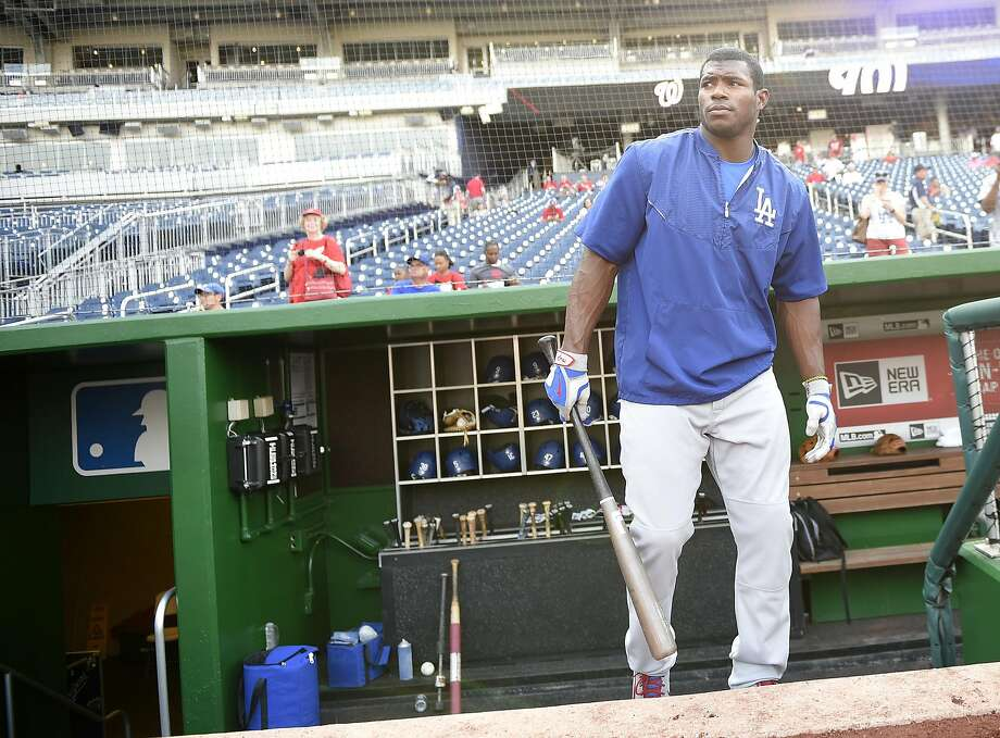 When the Dodgers called up Yasiel Puig, who brought his baggage — as well as his mercurial talent — with him. Photo: Nick Wass, Associated Press