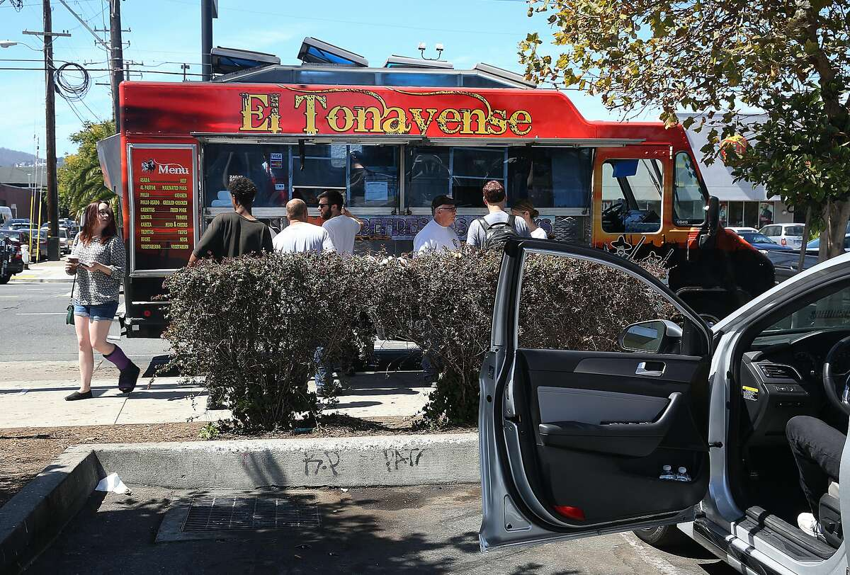 El Tonayense taco truck Harrison at 14th streets next to the Best Buy parking lot When Redditor Mulls commented with this suggestion, multiple people chimed in to agree. The Chronicle's food editor Paolo Lucchesi explains its the truck's selection of salsas that help push its tacos over the top.