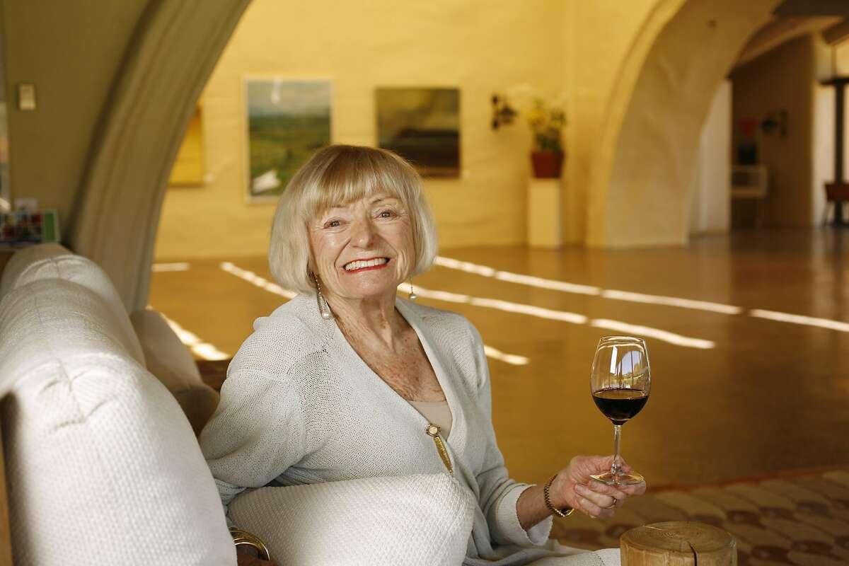 Margrit Biever Mondavi, widow of Robert Mondavi, at the Robert Mondavi Winery in Oakville, Calif., on July 28, 2008.