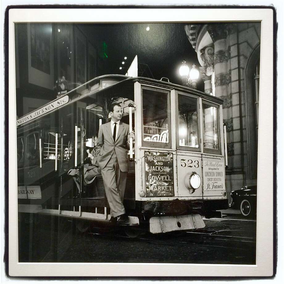 Classic Fred Lyon portrait of the late, great columnist Herb Caen is on display at the Leica Story & Gallery through Oct. 22. Photo: Catherine Bigelow, Special To The Chronicle