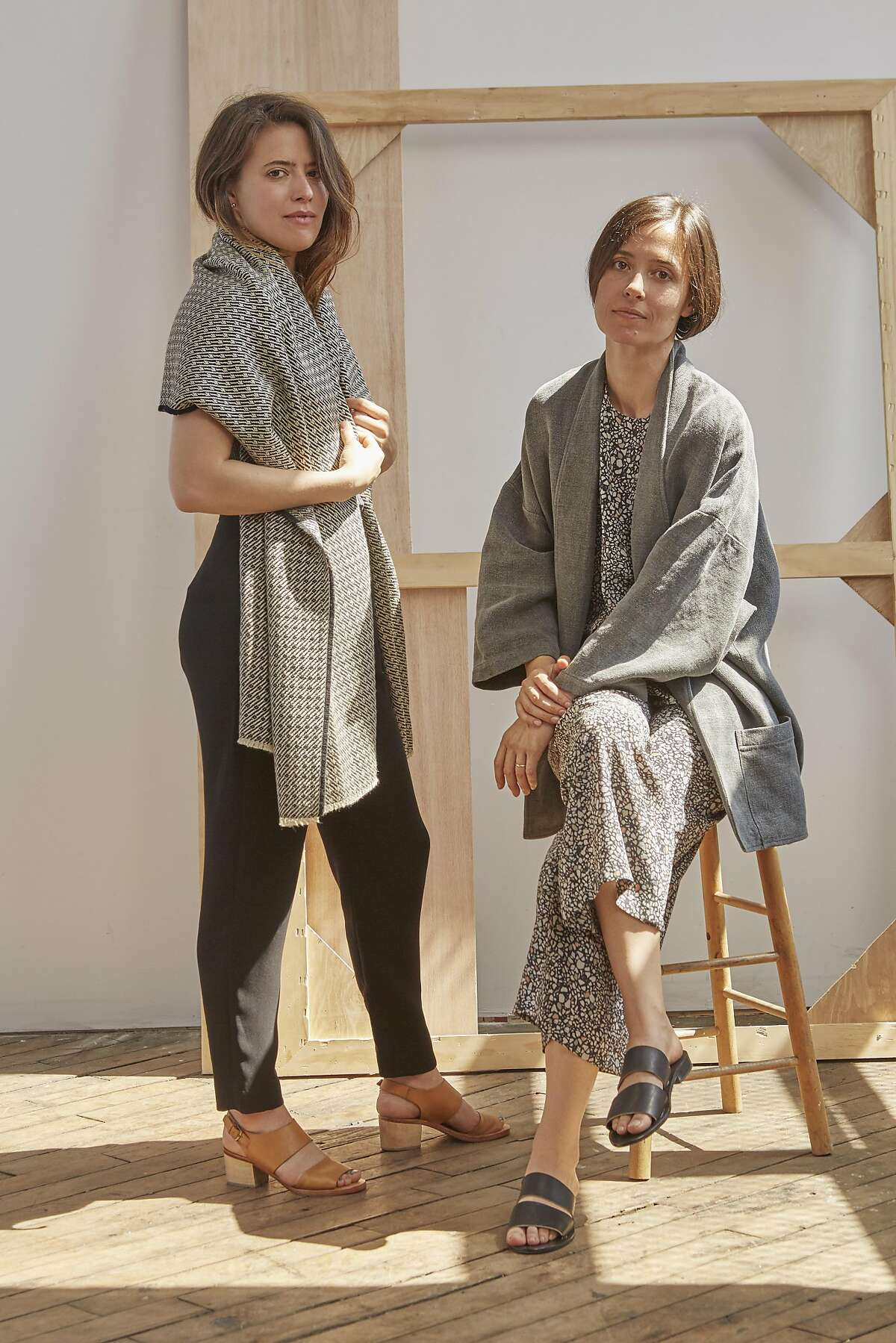 Mariah Nielson (left) and Fanny Singer are launching Permanent Collection, a lifestyle brand, this September. Permanent Collection's meticulously crafted clothing, accessories and design objects are inspired by past creations, unified by a restrained palette and classic shapes.
