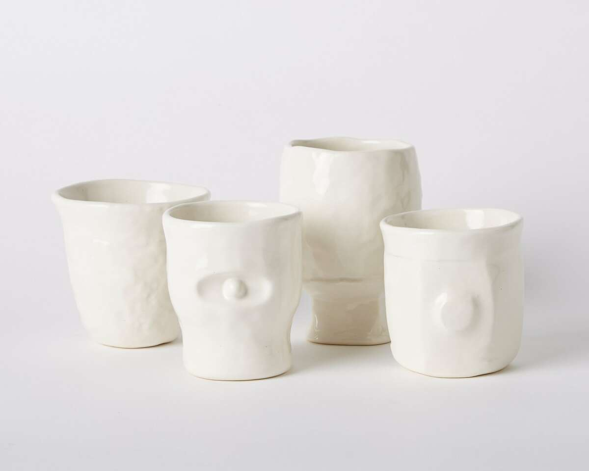 Permanent Collection's Blunk mugs are based on designs completed between 1950 and 1990 by co-founder Mariah Nielson's father, the late multidisciplinary artist J.B. Blunk. A set of four slipcast porcelain cups is $350.