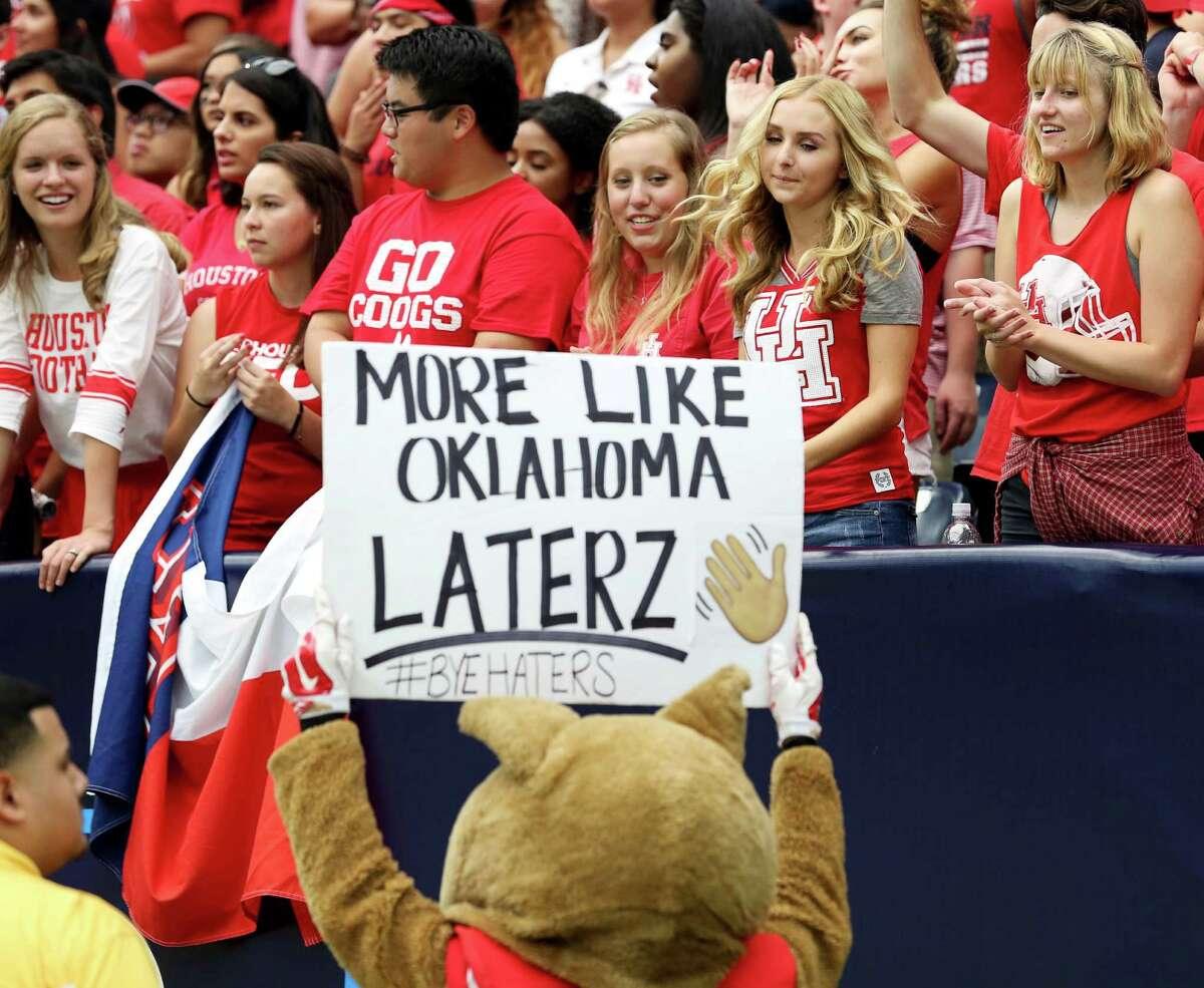 UH beat Oklahoma at NRG in 2016 but the Cougars are big underdogs for this year's game in Norman.
