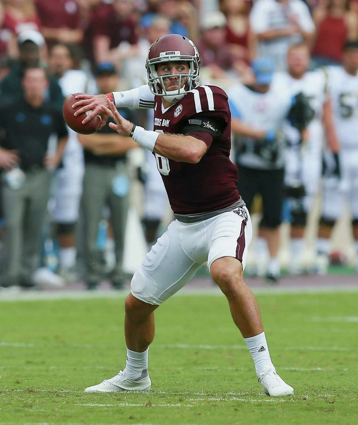 Sept. 3: Texas A&M 31, UCLA 24 (OT) The Aggies overcame a late collapse to outlast the Bruins in overtime. Quarterback Trevor Knight threw for 239 yards with a touchdown and interception. Record: 1-0