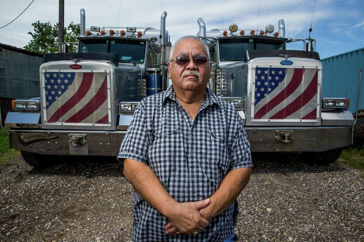 K-Mac Vacuum Truck Service dispatcher Lupe Gutierrez stands for a portrait Tuesday, August 30, 2016 in Alvin. ( Michael Ciaglo / Houston Chronicle )
