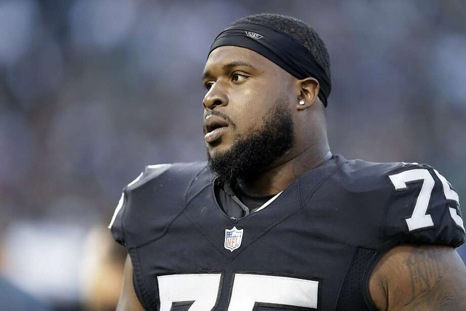 Oakland Raiders defensive tackle Darius Latham during the second half of an NFL preseason football game against the Tennessee Titans Saturday, Aug. 27, 2016, in Oakland, Calif. (AP Photo/Ben Margot) Photo: Ben Margot, Associated Press