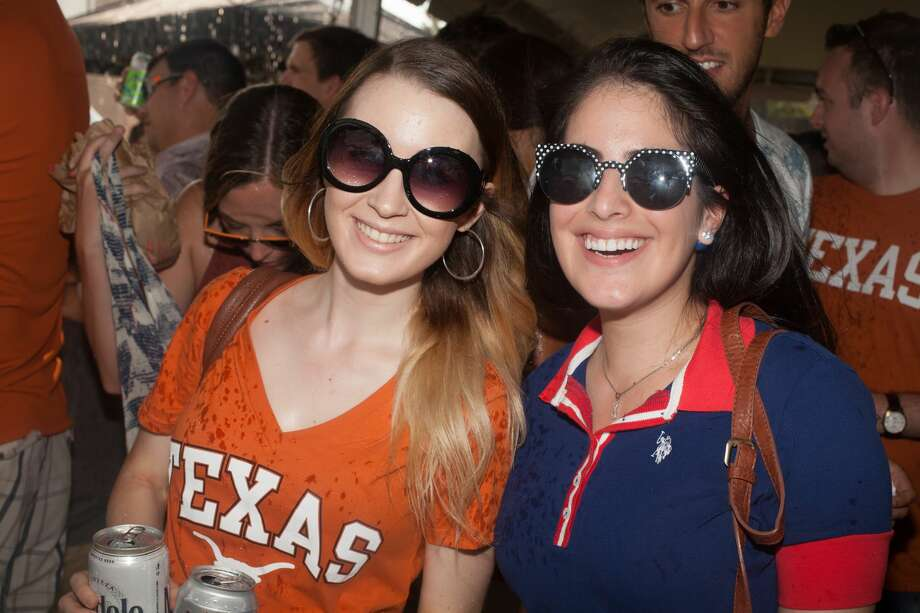Longhorns fans pack Central Austin in a huge roving tailgate/general opening day party Sunday afternoon, Sept. 4, 2016, as their beloved team readied to take on Notre Dame in the first college football game of their 2016 season. Photo: By Fabian Villa, For MySA