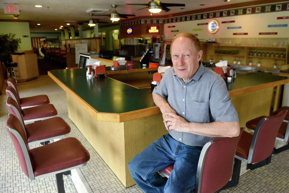 Owner Jon LaRock sits at the counter on Thursday, Sept. 1, 2016, at Howard Johnson's restaurant in Lake George Village, N.Y. After Labor Day weekend, this Howard Johnson's will be the last of its kind in the country. (Cindy Schultz / Times Union)