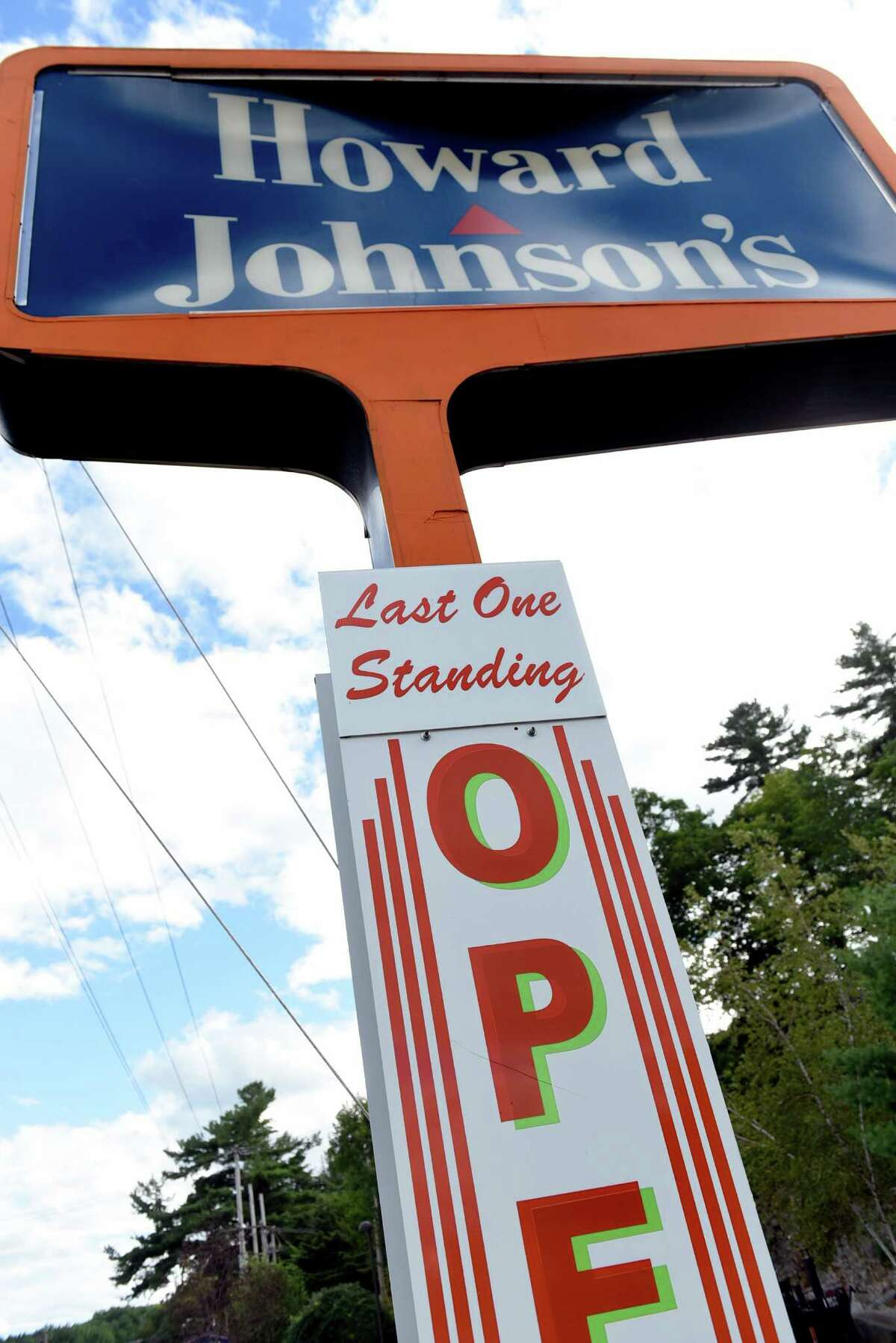 The sign has an added message on Thursday, Sept. 1, 2016, at Howard Johnson's restaurant in Lake George Village, N.Y. After Labor Day weekend, this Howard Johnson's will be the last of its kind in the country. (Cindy Schultz / Times Union)