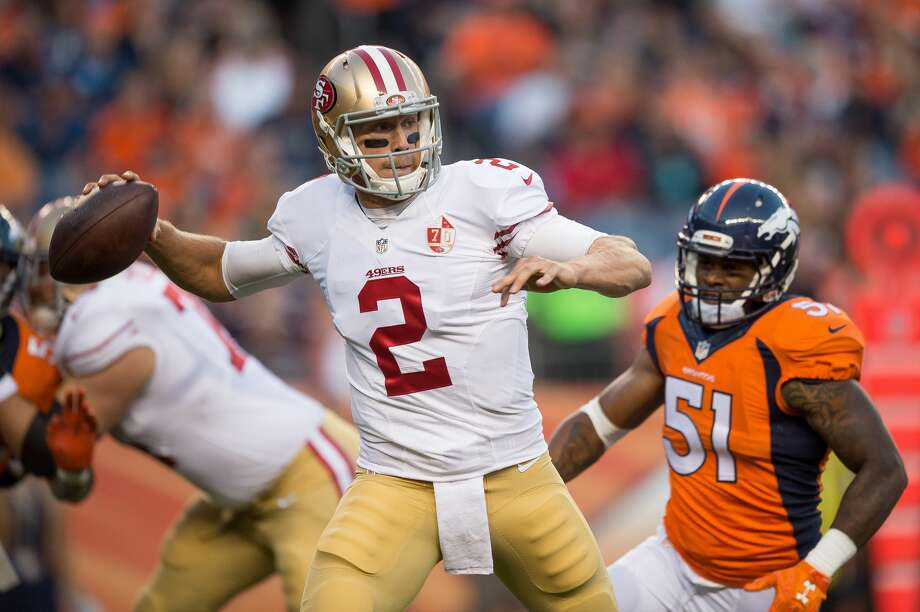 32. San Francisco 49ers: Colin Kaepernick made have grabbed all the headlines recently, but the fact that Blaine Gabbert is the Niners' starting quarterback doesn't bode well. Photo: Dustin Bradford/Getty Images