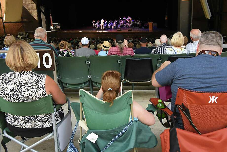 The Navy Band Northeast Ceremonial Band performs a concert highlighting musical selections meant to inspire patriotism during a free Labor Day concert at Saratoga Performing Arts Center on Monday, Sept. 5, 2016 in Saratoga Springs, N.Y.  (Lori Van Buren / Times Union) Photo: Lori Van Buren / 20037819A