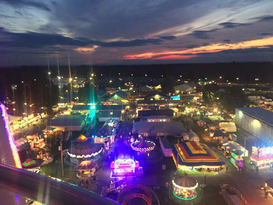 """Here's a nice view of the Schaghticoke Fairgrounds: """"Nights at the fair are always a great way to end summer"""" (Photo taken by Kayla Conerty, freshman at Mechanicville High School.)"""