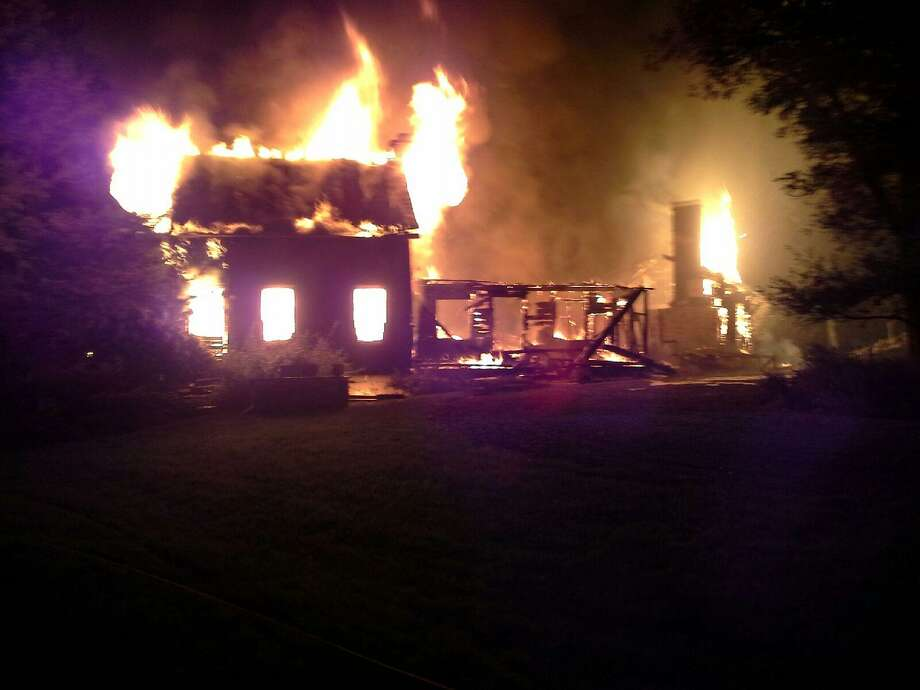 An 18th-century home in Chatham destroyed in a deadly fire Monday. (Provided photo)