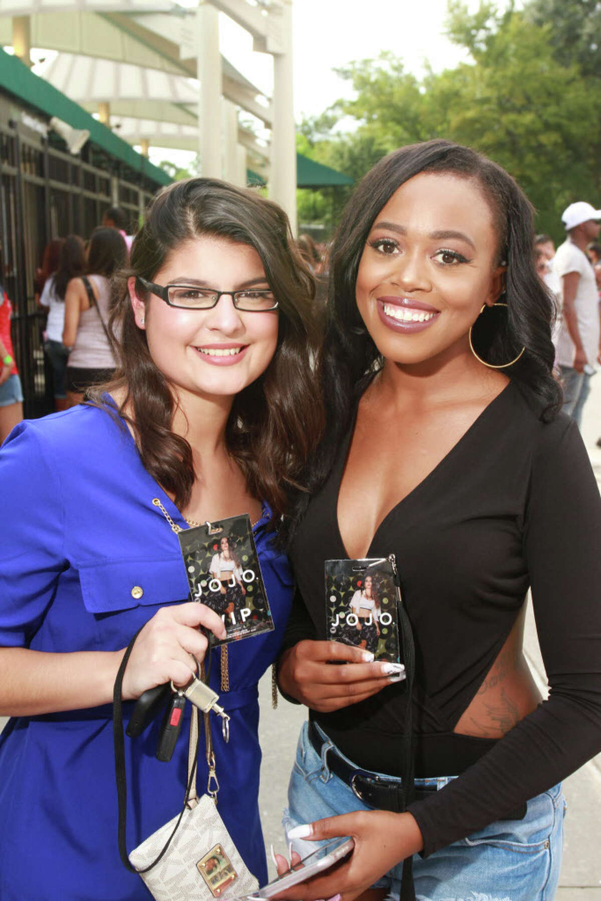 Fans attending the Fifth Harmony concert at the Cynthia Woods Mitchell Pavilion in the Woodlands. (For the Chronicle/Gary Fountain, September 5, 2016)