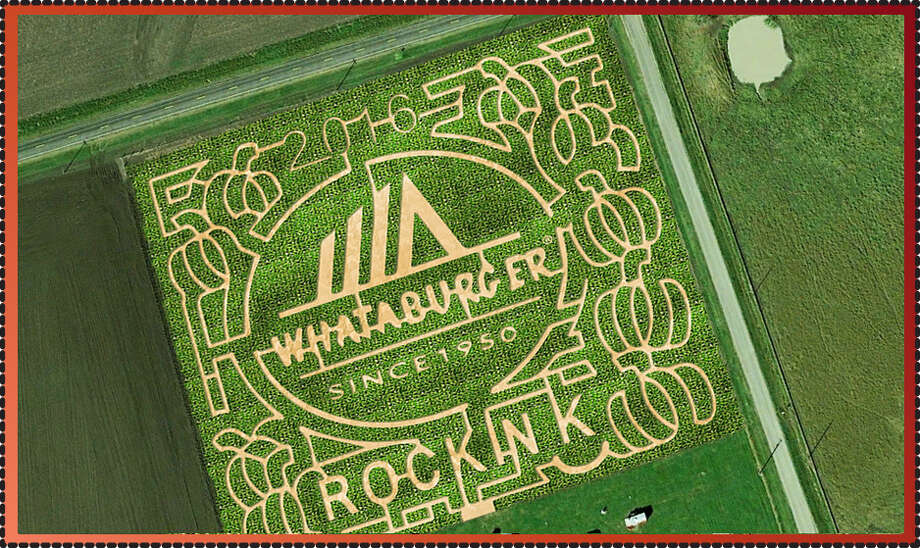Robstown's Rockin K Maze, opening Oct. 1, is an ode to Texas-based Whataburger. Photo: Provided By Rockin' K