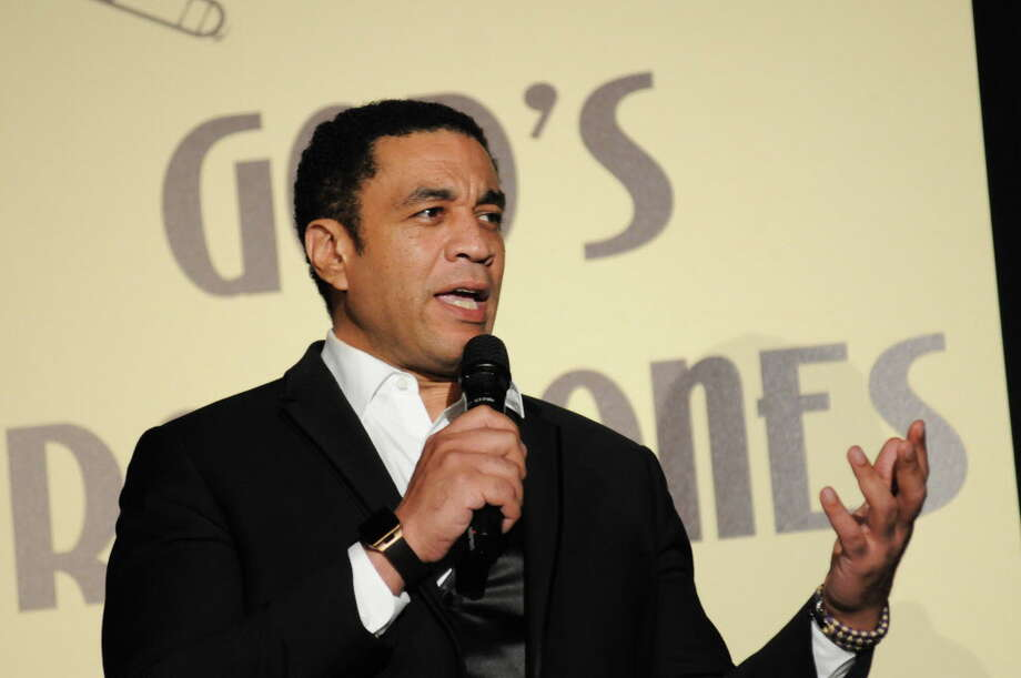 Harry Lennix received the award for actor of the year at the Ensemble Theatre gala. Photo: Amber Elliott