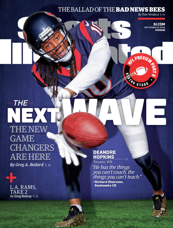 Houston Texans receiver DeAndre Hopkins is on the cover of the upcoming Sports Illustrated.Browse through the photos to see other times Houston sports teams have been featured on Sports Illustrated covers. Photo: Sports Illustrated