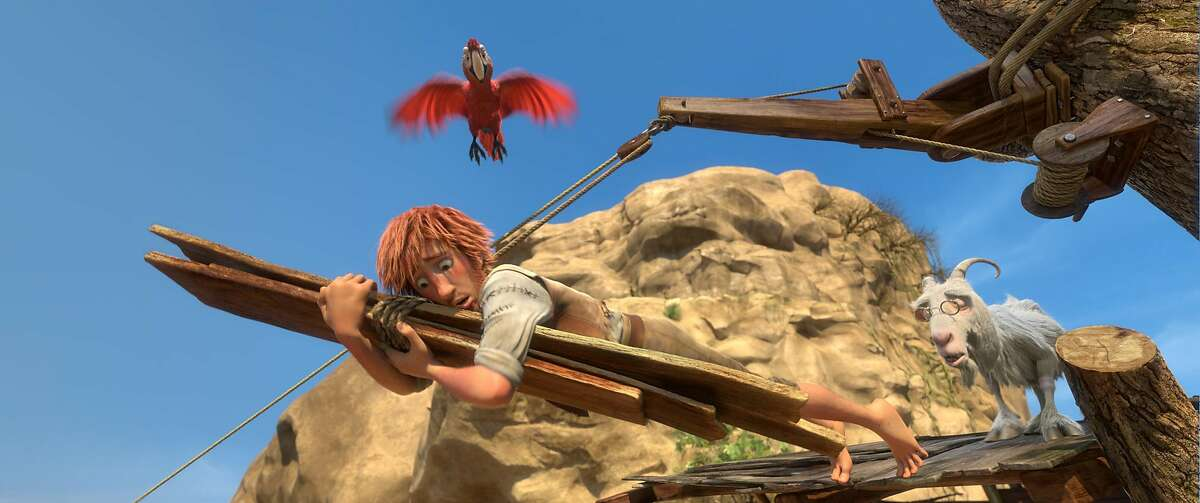 Mak (top), Robinson Crusoe, and Scrubby (right) in THE WILD LIFE. Image courtesy of Lionsgate.