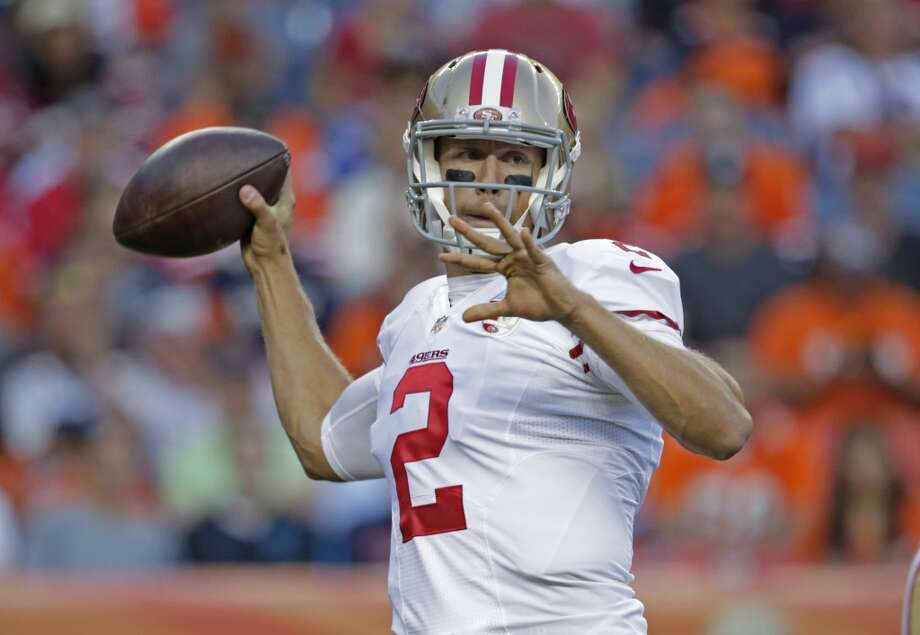 10. The quarterback situation is shaky. Coach Chip Kelly took until the final cutdown day to announce Blaine Gabbert as his starter, and with two veteran former starters as the backups, the story for the quarterbacks in 2016 could take several turns before it is over. Photo: Jack Dempsey, Associated Press