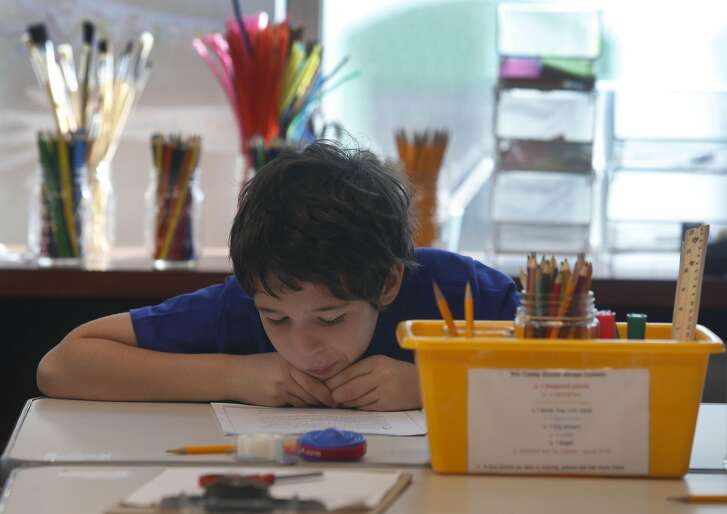 An upper elementary student reads in the English Language Arts class at the new AltSchool Yerba Buena campus in San Francisco, Calif. on Sept. 6, 2016.