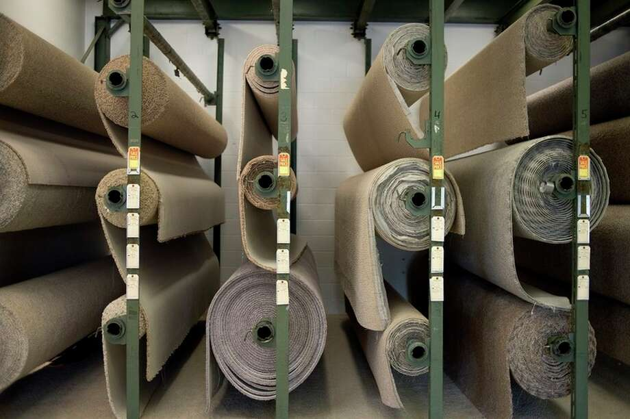 Rolls of carpet are on display at Everett Carpet Co. in Midland.