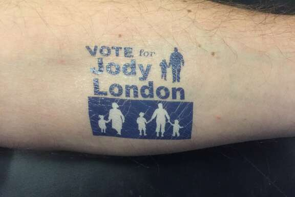 Temporary tattoo for campaign of Oakland school board candidate Jody London