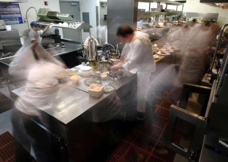 2002: The kitchen at Aqua in S.F. Photo: CARLOS AVILA GONZALEZ, SFC