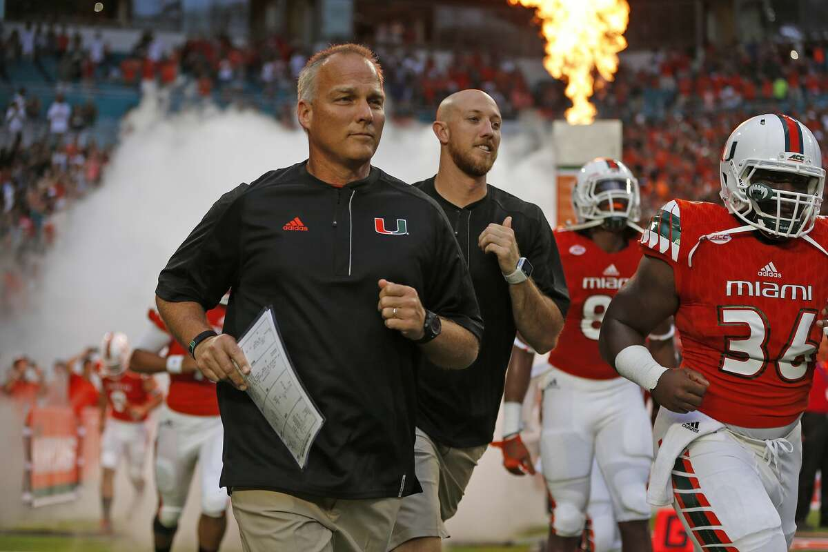 25. Miami (1-0) This week: vs. Florida Atlantic, 5 p.m. Saturday The Mark Richt Era got off to a rousing start with a 70-3 win over Florida A&M. It will probably continue humming along against Florida Atlantic. However, as Georgia fans can attest, Richt loves to get fat off cupcakes, then his own fat gets chewed right off when the big boys come to town. We've got a feeling Florida State isn't going to bow down and kiss the ring of the new guy like these other Florida schools on the Hurricanes' schedule.