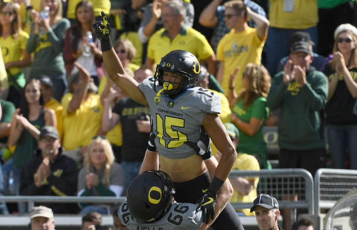 24. Oregon (1-0) This week: vs. Virginia, 9:30 p.m. Saturday (ESPN) The Ducks were never in real trouble in their 53-28 win over Cal-Davs - although they trailed 7-0 early and led just 11-7 midway through the second quarter - but giving up 28 points to an FCS team has to set off alarm bells at Nike Headquarters.